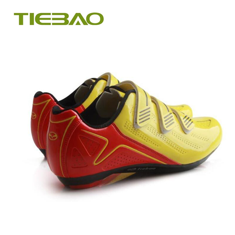 Купить с кэшбэком Tiebao road cycling shoes sapatilha ciclismo men bicycle outdoor superstar sneakers nylon sole self-locking road bike shoes