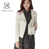 Женская куртка из натуральной овечьей кожи, белая мотоциклетная одежда, женская сексуальная тонкая куртка на молнии, короткая куртка jaqueta