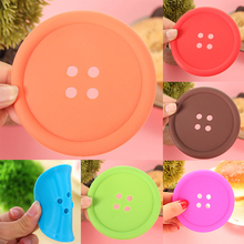 Feiqiong Silicone Round Circle Mats Multi Colors Insulation Durable Flexible Cup Pads Pot Holders Spoon Rest Button Shape