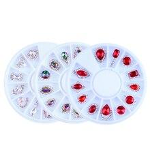 1 колесо камни для ногтей Кристаллы Стразы для ногтей(12 шт/колесо) алмазный камень драгоценные камни лак для ногтей УФ-Полировка камни и хрустальные подвески ZP101