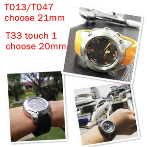Image 2 - Tissot 시계 스트랩에 대 한 고무 시계 밴드 스포츠 T 터치 T013420A T047 T33 팔찌 남자 실리콘 팔찌 20mm 21mm 오렌지 블랙
