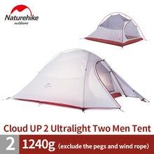 Naturehike 2 osoby z ślad 20d silikonowe lub 210 t chusta tkaniny namiot namiot dwuwarstwowy namiot kempingowy nh15t002-t
