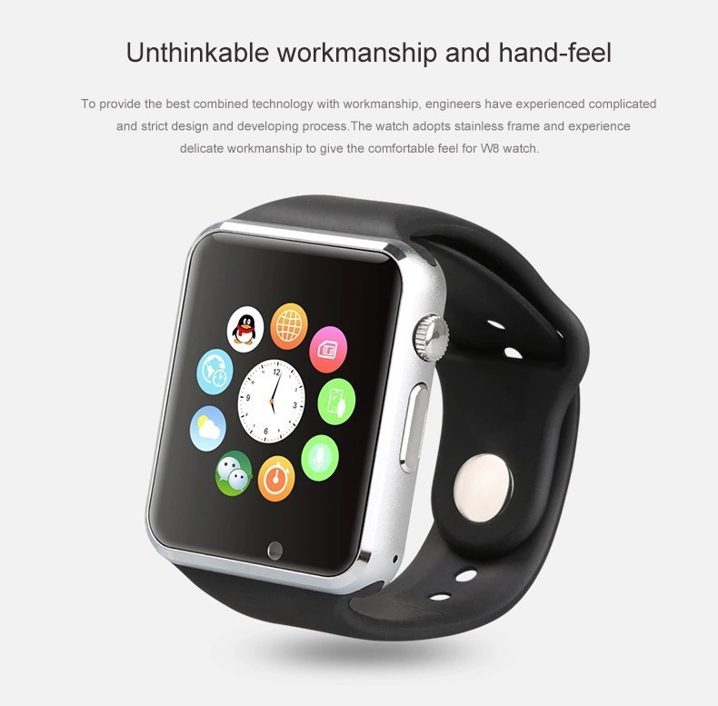 US $40 0 |2015Free shipping Bluetooth smart watches SmartWatch W8 watch SIM  card for iOS and Android intelligent mobile phone SIM card-in Smart