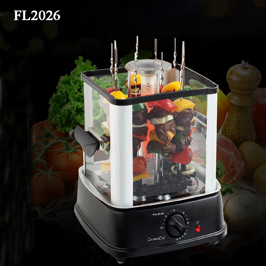 Automatic Baking Electric Barbecue Grill Rotary BBQ Machine Smokeless Infrared Heating Oven FL2026 automatic smokeless bbq grill household electric hotplate stove teppanyaki barbecue pan skewer machine stainless steel outdoor