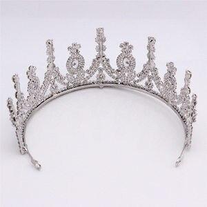 Image 5 - AAA стразы Корона для королевской королевы свадебные тиары короны принцесса диадема повязка на голову Свадебные украшения для волос конкурс головной аксессуар
