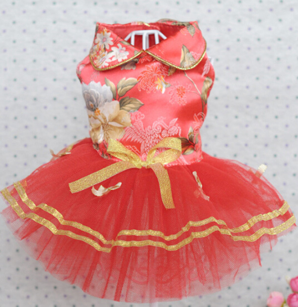 Summer style doggy fashion lace tutu princess dress puppy lovely ...