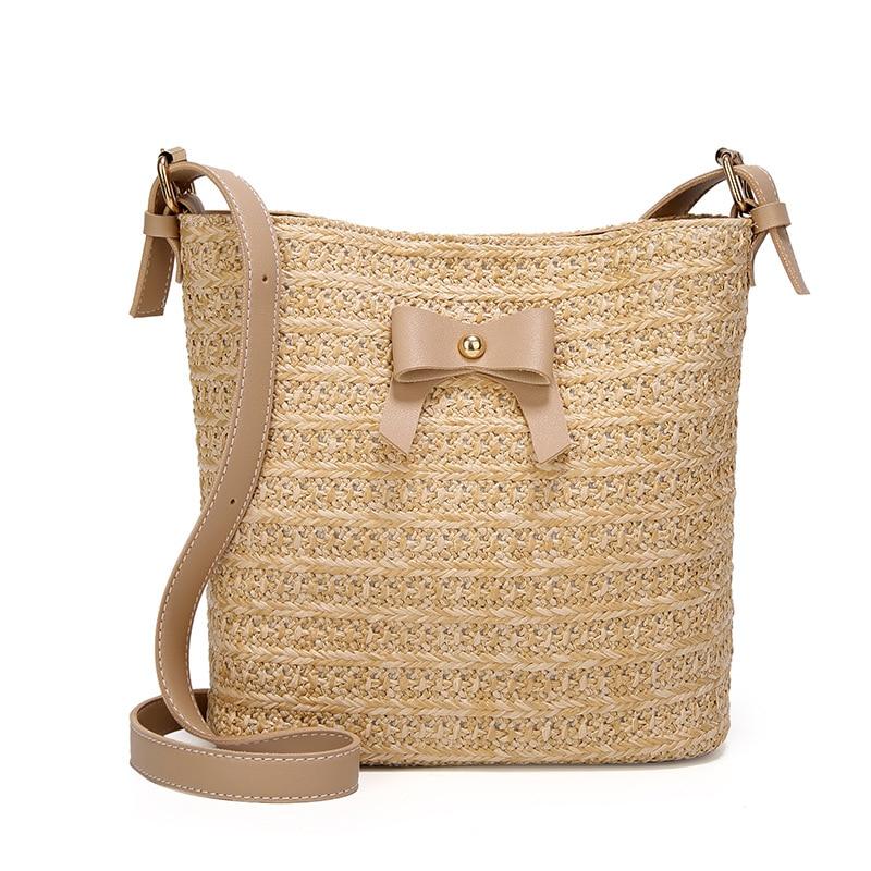 Women Beach Straw Bag Summer Beach Woven Bag Shoulder Bag Tote Shoulder Handbag Casual Cross Body Messenger Bags For Women 2019