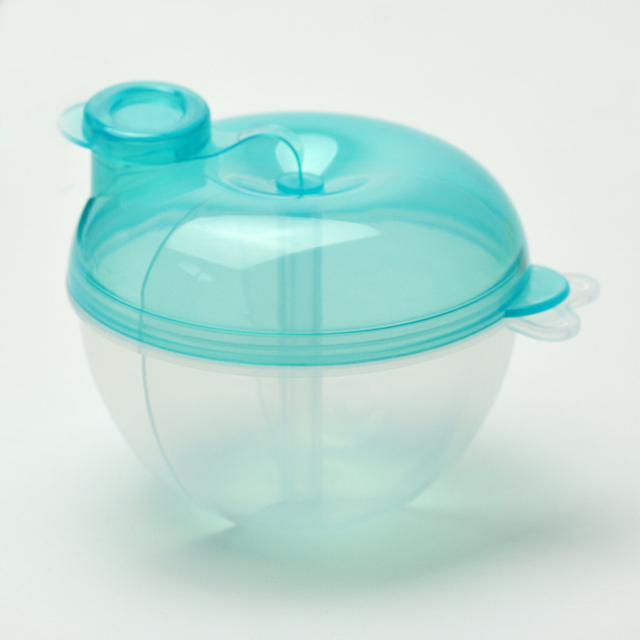 Three-Grid Transparent Baby Powder Dispenser