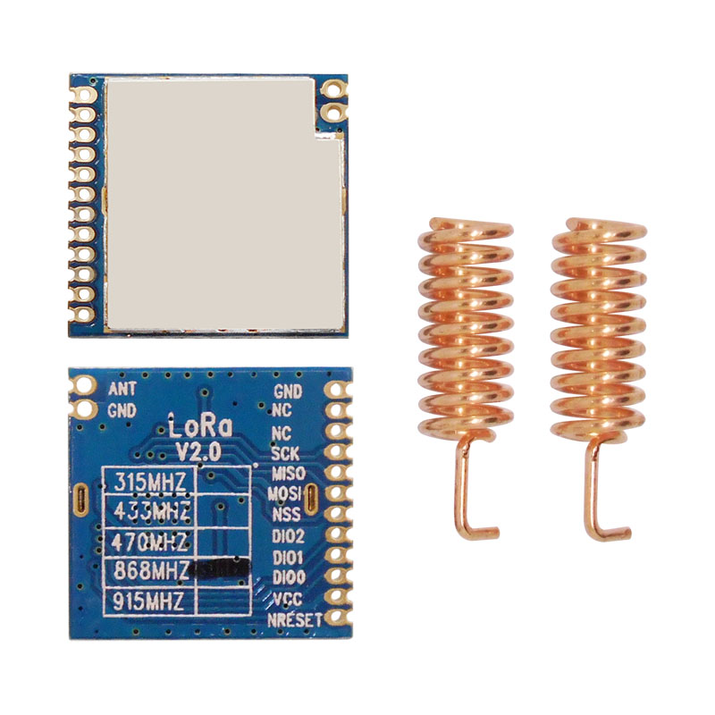 Image 2 - 2pcs/lot FCC certified 868MHz  915MHz 100mW sx1276 chip long range 4Km RF Wireless LoRa Module LoRa1276module classmodule powermodule wlan - AliExpress