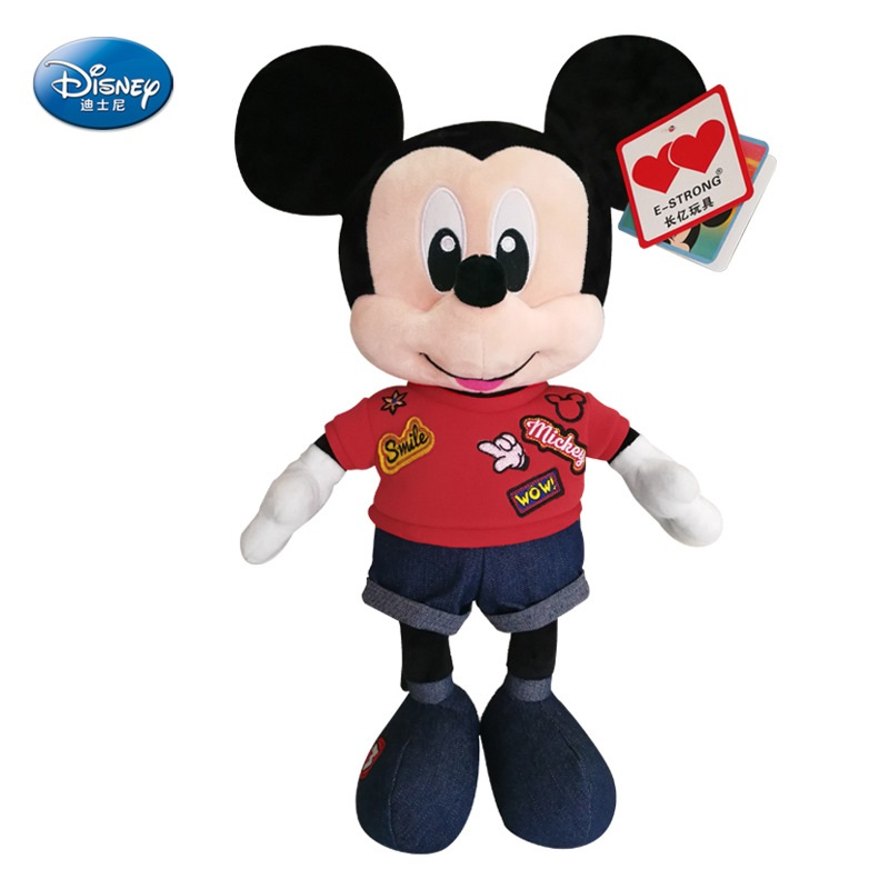 2018 Disney Hot Plush Toys New Mickey Mouse Minnie Plush Doll Toy Boys and Girls Birthday Gifts Children's Toys Series 1 piece 35cm 13 7 mickey mouse plush toys doll for kids gifts