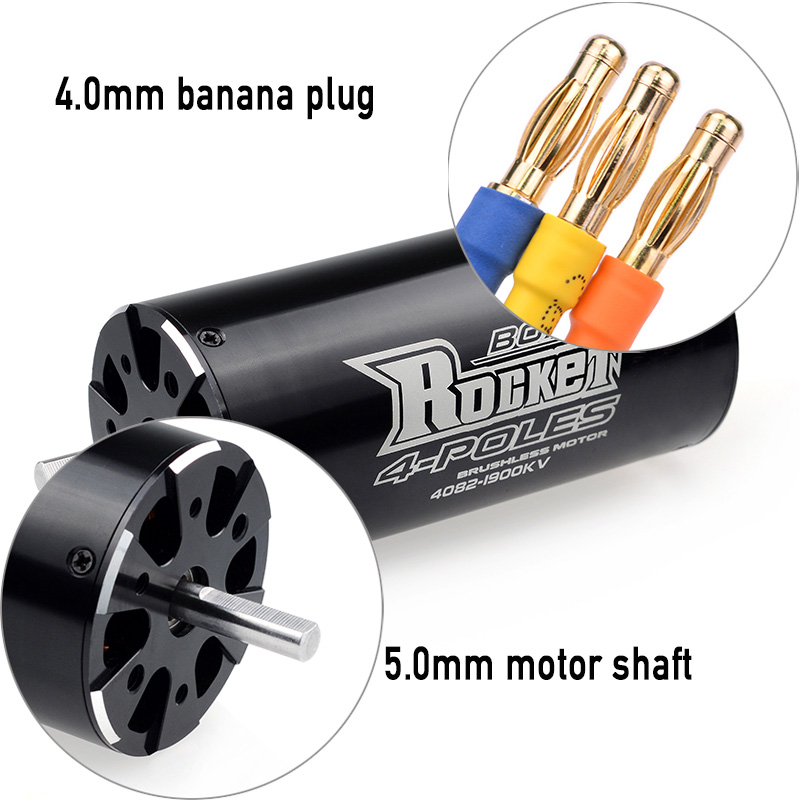 Image 4 - SURPASSHOBBY Rocket 4082 1900KV 1600KV 4P Brushless Motor for Traxxas M41 Catamaran Spartan 1000mm(or Above) RC Boat Car-in Parts & Accessories from Toys & Hobbies