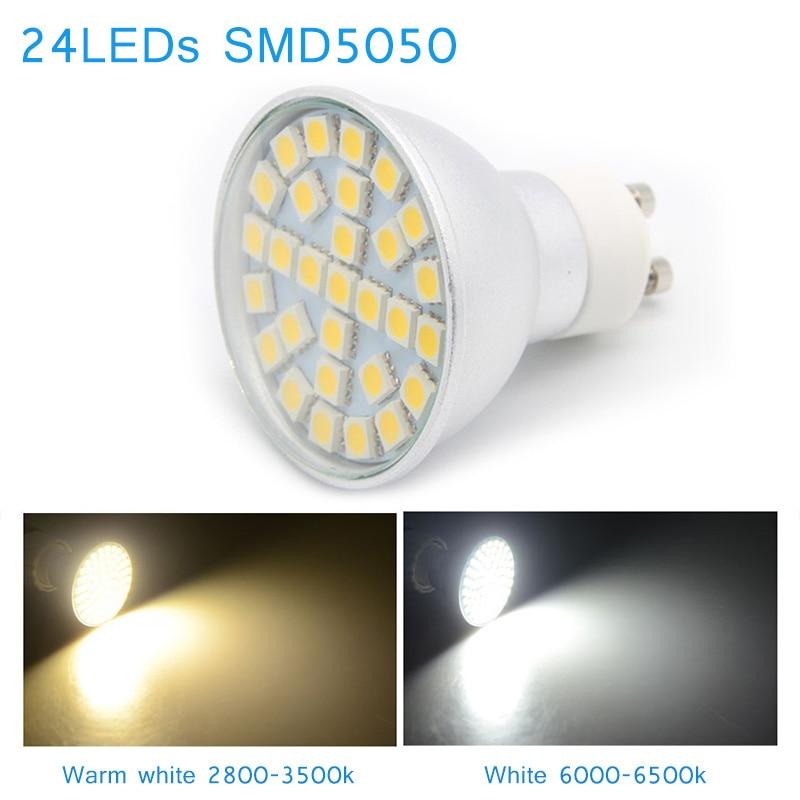 10Pcs LED Corn Light Bulb 110/220V 24LED SMD5050 480Lm White/Warm White Lamp Head ALI88 5pcs e27 led bulb 2w 4w 6w vintage cold white warm white edison lamp g45 led filament decorative bulb ac 220v 240v