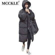 MCCKLE 2017 Winter Warm Womans Parkas Black Oversized Hood Female Overcoat High Quality Long Coat Jacket