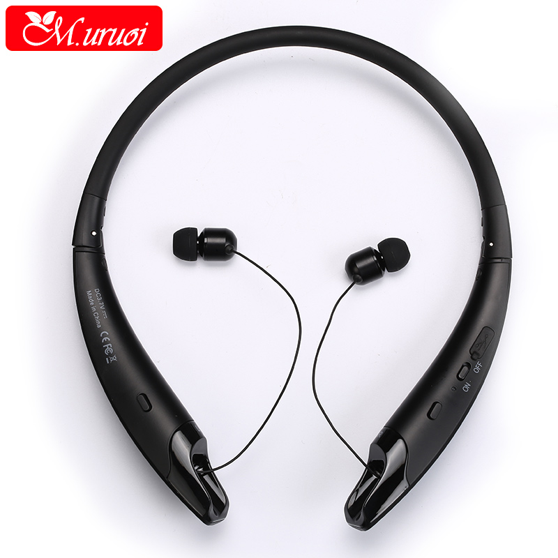 M.uruoi Noise Cancelling Headphones Bluetooth Earphone Waterproof Bluetooth Headset Sport Earbuds Handsfree Stereo for Phone noise cancelling earphone stereo earbuds reflective fiber cloth line headset music headphones for iphone mobile phone mp3 mp4 page 1