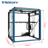 3D Printer Newest Tronxy X5ST 500 2E Larger 2 In 1 Out Double Color Extruder Cyclops Single Head 3d Printing Dual Filament
