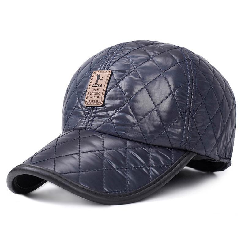 [AETRENDS] Vinter Mænd Cap Baseball Hat Plaid Stilfuldt med Øre - Beklædningstilbehør - Foto 5