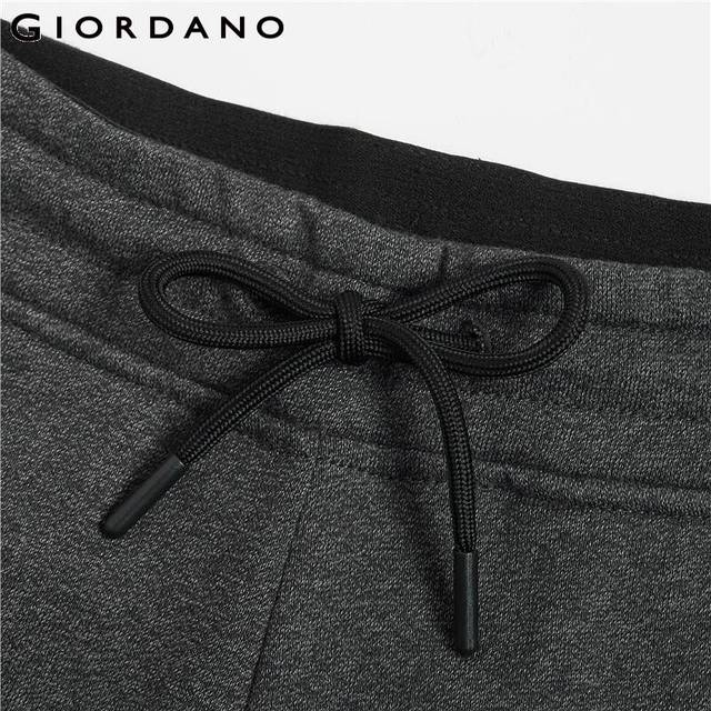 Giordano Men Pants Zip Pocket Terry Joggers For Men Knitted Jogger Pants Male Moletom Masculino Pantalones Hombre Casual 50