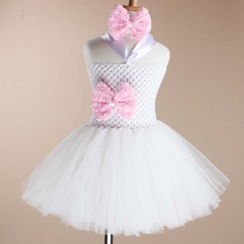 Toddler Girls Fancy Princess Tutu Dress Holiday Flower Double Layers Fluffy Baby Dress with Headband Photo Props TS044 13