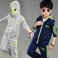 V-TREE 4-12Y adolescente muchachos determinados de la ropa de la cremallera abrigo Batman pantalones niños deportes traje niños conjuntos niños ropa de sport de la escuela