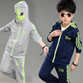 V-TREE 4-12Y teen boys clothing set zipper Batman coat pants children sports suit boys sets kids school clothes for sport