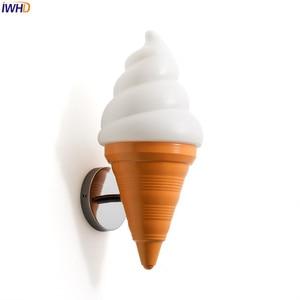 Image 5 - IWHD Ice Cream Modern Wall Lamp Carton Children Room Bar LED Wall Light Sconce Fixtures Arandelas Lampara Pared