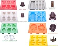 Set of 8 Star Wars Silicone Ice Trays / Chocolate Molds Baking Accessories  Mold