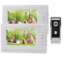 DIYSECUR 7 inch TFT Color LCD Display Video Door Phone Video Intercom Doorbell 700TVLine HD IR Night Vision Camera 1V2