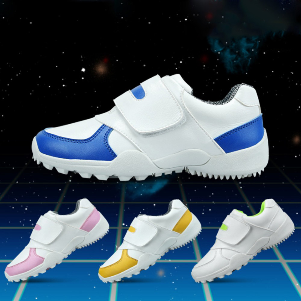 CRESTGOLF Durable Golf Children Shoes Sneakers Breathable Soft Shoes Golf Kids Shoes Outdoor Sport Running Antiskid