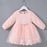 Kids Dress 2018 Wedding Party Dress Lace Kids Clothes Toddler Infant Baby Dress Girl Christening Dress