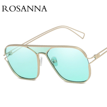 ROSANNA 2019 New Square Sunglasses Women Brand Design Fashion Candy colors Glasses Trend Personality Sun Glasses Shades UV400 поднос декоративный rosanna glasses