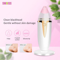 SWOISS New Electric Black Head Remover Face Vacuum Cleaner Electronic Cleansing Skin Spots Removal Pore Cleaner Instrument