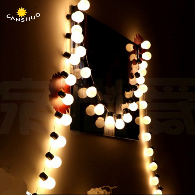 novelty outdoor lighting 5cm big size led ball string lamps christmas lights fairy lights garland for