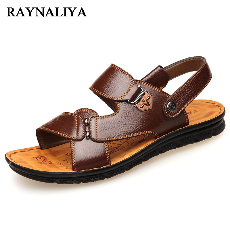 Mens Sandals Breathable Summer 2018 High Quality Leisure Style Genuine Leather Beach Sandal Men Large Size Mens Sandal BH-C0101
