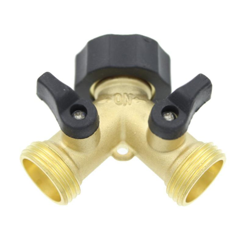Tap Adaptor for Garden 2 Way Brass Tap Manifold with Individual On//Off Valves