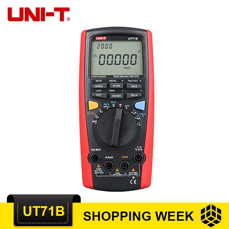 UNI-T UT71B multimètres numériques intelligents avec Interface USB testeur de fréquence ampèremètre multimetro