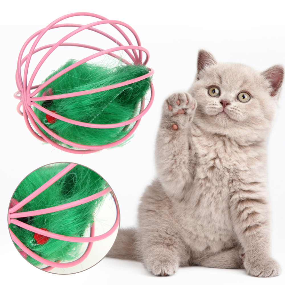 1Pc Cat Toys Hollow Ball Feather Mouse Toys for Cats Kitten Playing Funny Mice Mouse Toys
