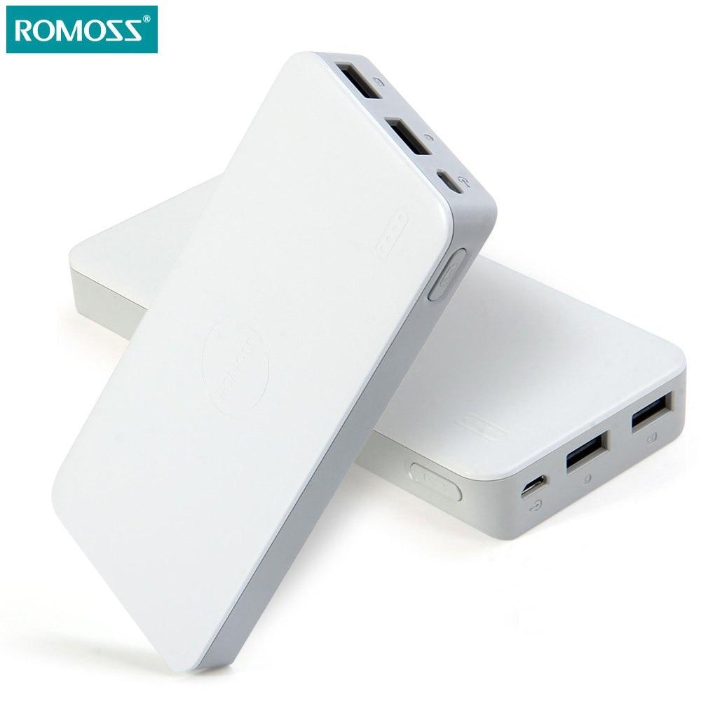 imágenes para (Buque de EE.UU.) 10000 mAh ROMOSS Polymos 10 Banco de la Energía de Carga Rápida Cargador de Baterías Externas Portátil para iPhone Samsung