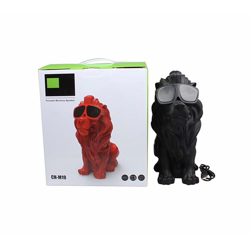 GYKZ Wireless Bluetooth Speaker Column Deep Bass Lion Loudbox Portable Speaker Loudspeaker Mp3 Player Multipurpose FM Radio TF U in Subwoofer from Consumer Electronics