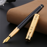 Pimio902 Gift Fountain Pen Metal Iridium Fine Nib 0.5mm Ink Pens for Writing Painting Calligraphy Luxury Pen with Gift Box