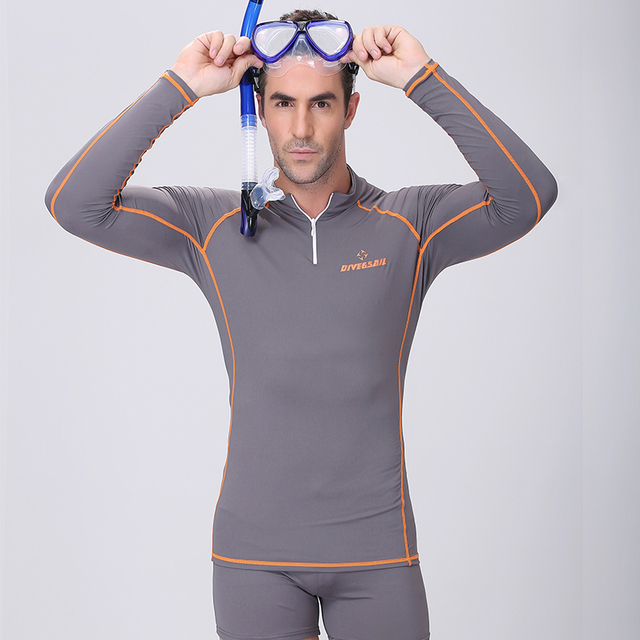 a266b1305d Free Shipping Conjoined long-sleeved Diving clothes prevented bask in jellyfish  garment snorkeling bathing suit Swimming suit