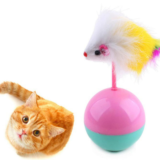 Soft Faux Fur Plastic Pet Cat Toys Favorite Fur Mouse Tumbler Plastic Toys Balls Hot Funny False Rats For Cats Dogs Play 6cm