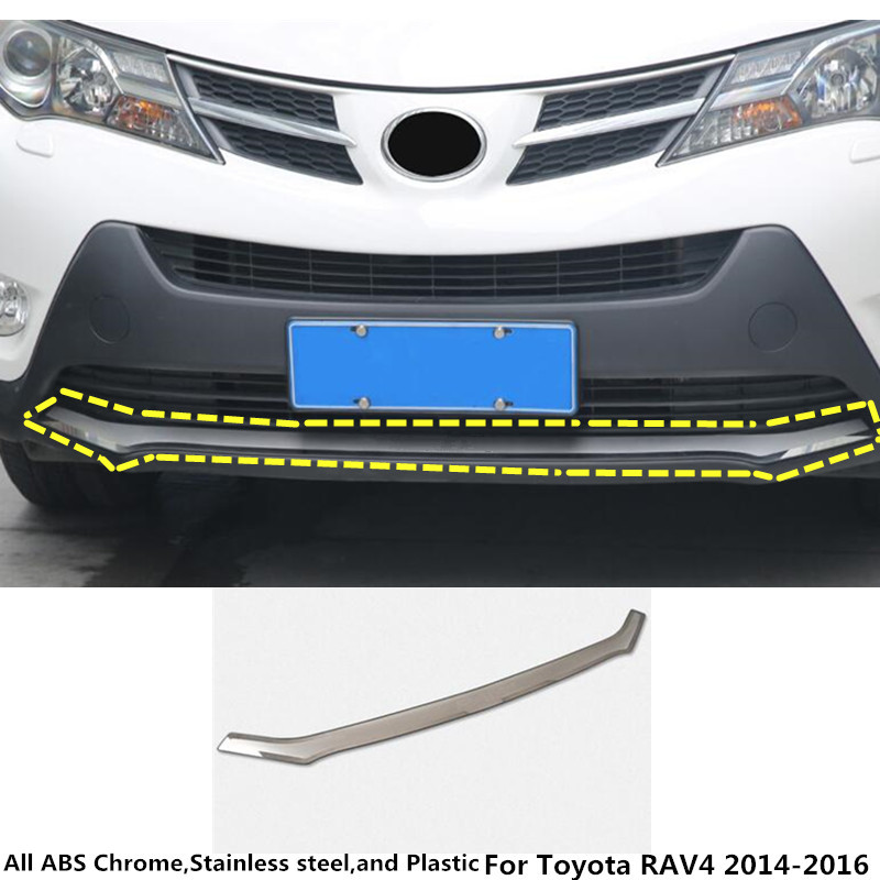 For Toyota RAV4 2014 2015 2016 Car body cover Bumper engine ABS chrome trim Front bottom Grid Grill Grille frame moulding 1pcs car panel body cover protection trim front up grid grill grill racing 1pcs for nissan march 2011 2012 2013 2014 2015 2016 2017