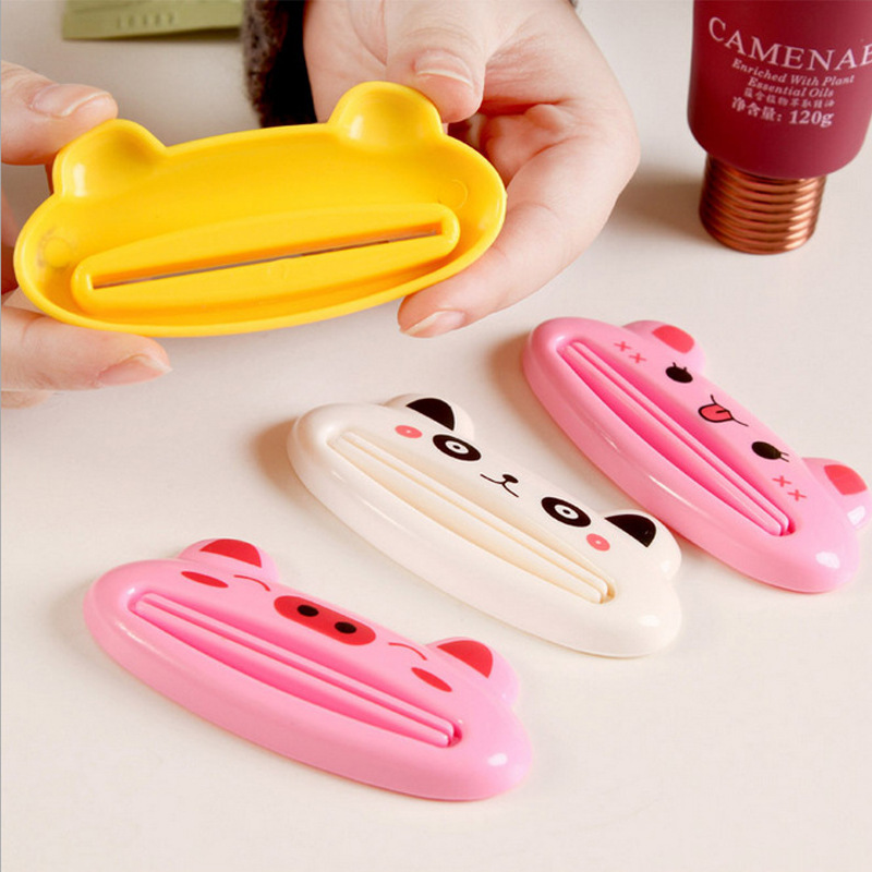 Cute Animal Toothpaste Squeezer Home Commodity Bathroom Tube Cartoon Dispenser Tool LKS99