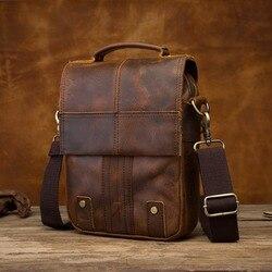 Qualidade de couro masculino design casual ombro mensageiro bolsa de moda cruz-corpo saco 8