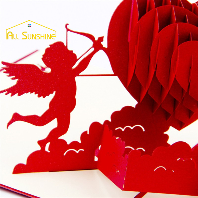 laser cut paper craft cupid love 3d pop up greeting cards postcards wedding invitations card valentines day gifts in cards invitations from home garden