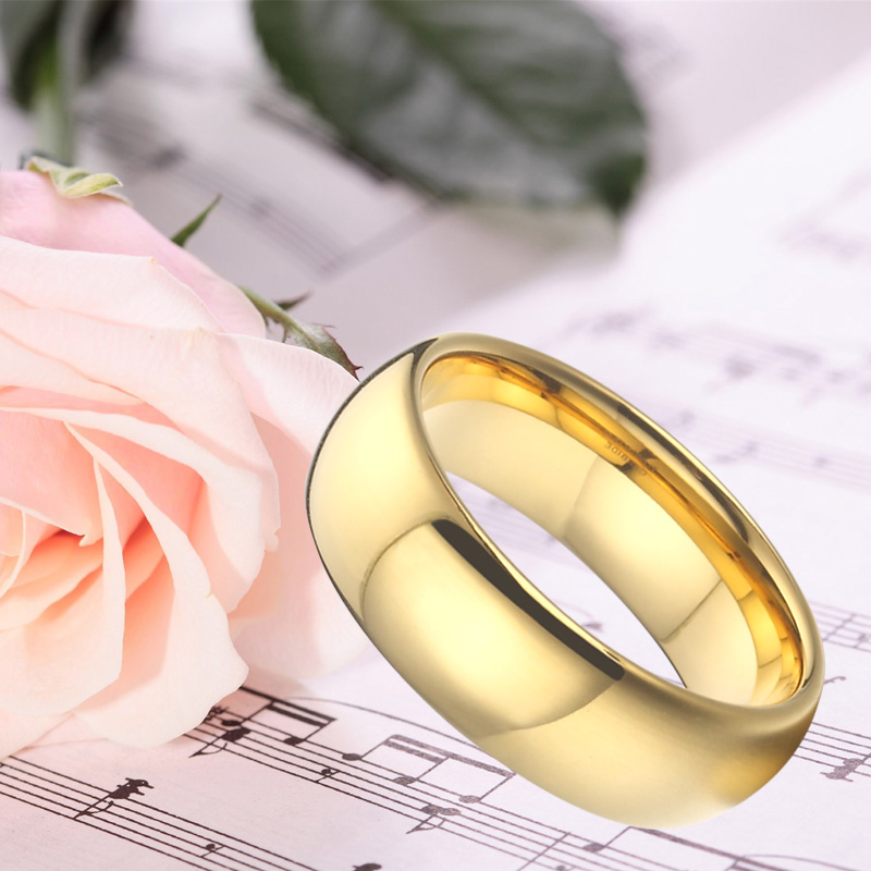 Anniversary Alliances Wedding Band Couple Rings 468mm Gold Color Fashion Jewelry Tungsten carbide Rings for women (8)