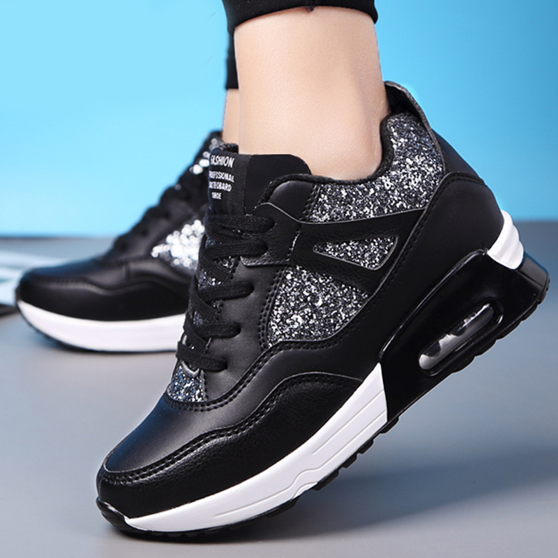 Women vulcanize shoes bling designer platform sneakers increase massage female shoes 2018 new fashion spring/autumn