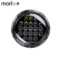 Marloo 5D 126W 7 inch Motorcycle LED Headlight For Harley Davidson Electra Glide Street Glide Fat Boy Road King Heritage Softail