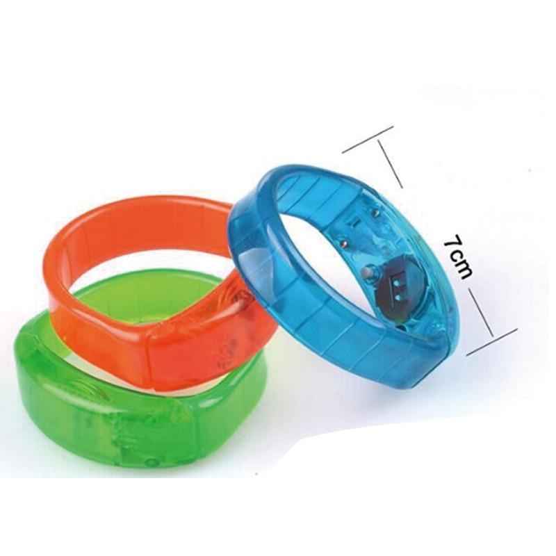 Röststyrning blinkande armband mini ledd ljus led armband - Semester och fester - Foto 5