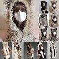 Дейзи и н . а . теплая зима искусственного животных меховая шапка пушистый вмятина гуд шарф шаль перчатки плюшевые Cap 013